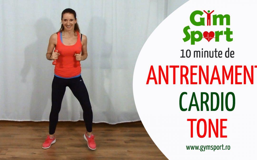 10 minute de antrenament Cardio Tone acasa