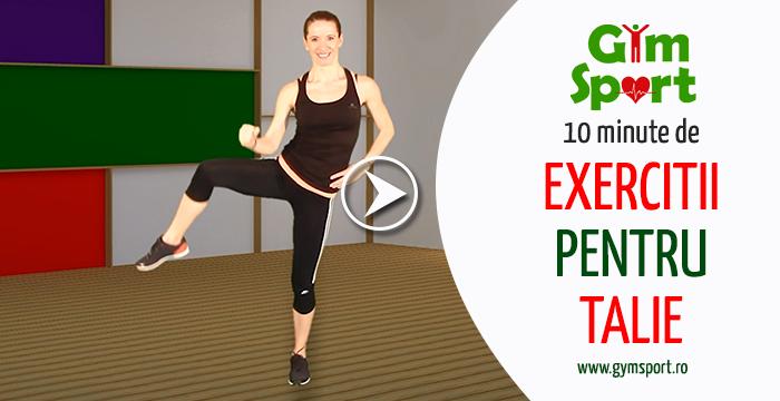 10 minute de antrenament pentru talie