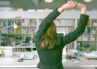 Exercitii de tonifiere la birou