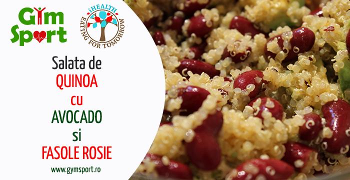 Salata de quinoa, cu avocado si fasole