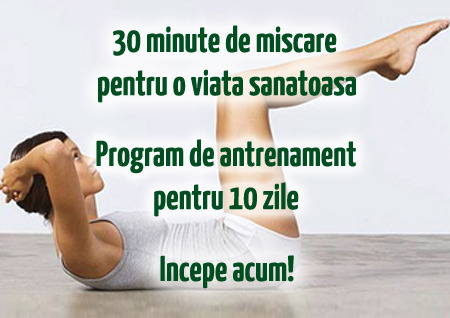 Exercitii pentru acasa – Antrenament pentru 10 zile